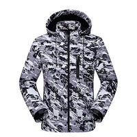 Jacket Men Waterproof Lurker Shark Skin Soft Shell V4 Military Tactical Windproof Warm Coat Camouflage Hooded