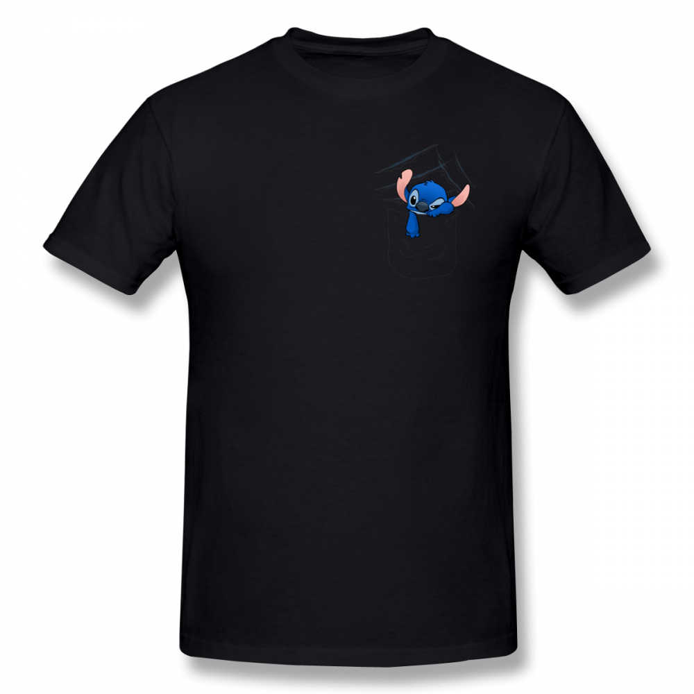 519bf6fcb ... Lilo Stitch T Shirt Badness Level Rising T-Shirt Men Printed Tee Shirt  Short Sleeves ...