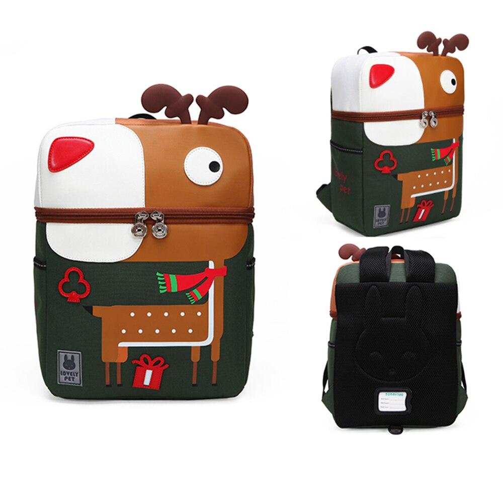 3D Cartoon Children Schoolbag Bag Cute Kindergarten Backpack Paper Bag Tiger, Dinosaur, Peacock