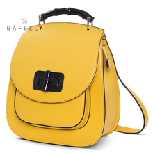 BAFELLI 2017 fashion Lemon yellow softback backpacks solid bag black bolsa feminina for girls backpacks women bag цена и фото