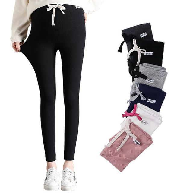 d846a88f594bd 2019 New High Waist Belly Skinny Spring Summer Maternity Pants Fashion  Pencil Clothes for Pregnant Women Slim Pregnancy Legging