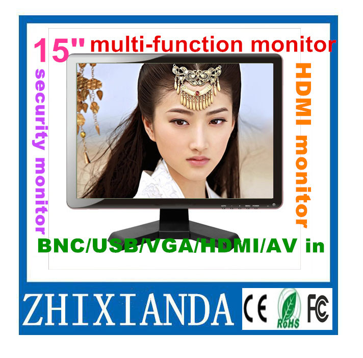 Factory Price 15 inch TFT LCD screen HDMI Monitor