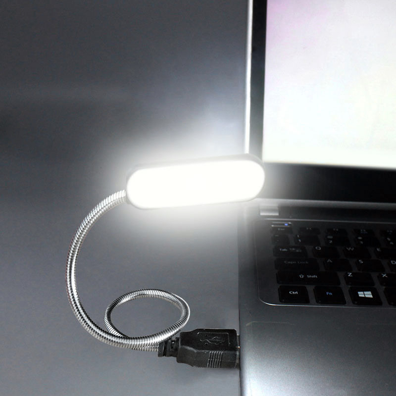 Гибкая портативная usb-лампа для чтения, 4 светодиода, ночник, мини светодиодная лампа, клавиатура, компьютер, ноутбук, настольные лампы