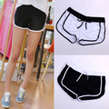 2015 New Fashion Summer Women's Black White Casual Vintage Drawstring workout Shorts Stretch Shorts Feminino Female