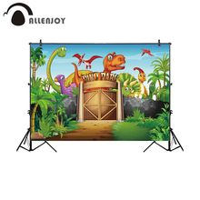Allenjoy dinosaur photography background zoo park theme forest children backdrop photocall photo studio professional