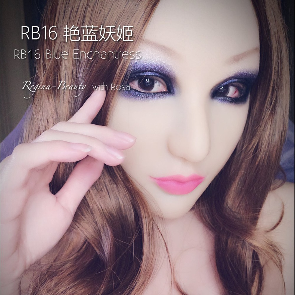 Luxury Custom Blue Enchantress Makeup Dms Mask Rose Handmade Silicone Y  Female Crossdress Half Face