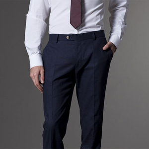 Image 4 - Men Suit Men Tuxedo Custom Made Wedding Suits For Men 2019  Tailored Light Navy Blue Mens Suits With Pants Costume Homme Mariage
