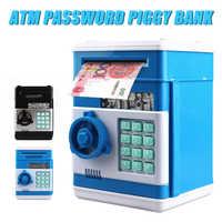 Tirelire électronique coffre-fort tirelire pour enfants pièces de monnaie numériques économie d'argent coffre-fort ATM Machine cadeau d'anniversaire enfants