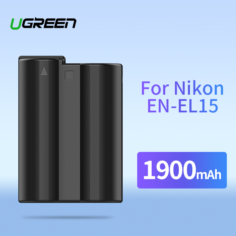 Ugreen EN-EL15 Caméra Batterie 1900 mAh pour Nikon EN EL15 D610 D750 D800E D810 D810A D850 D7500 D7200 D7100 D7000 Batteries de Caméra