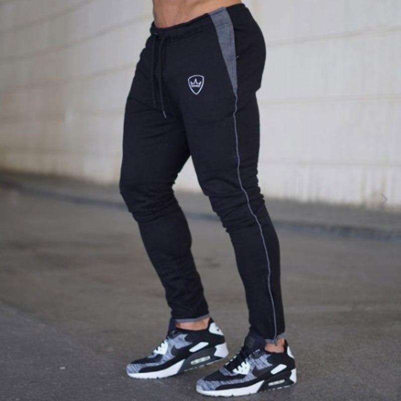 SJ 2018 Mens Pants Bodyboulding Cotton Clothing Street Trousers Fitness Jogger Sweatpants Casual Sweat Pants