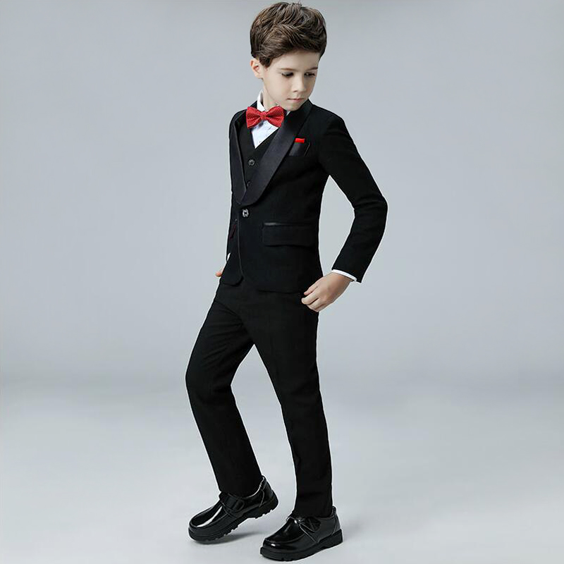 358cc927a 5 piezas conjuntos chaquetas bebé Formal de los muchachos ropa de niños 3  12 t traje pantalón chaqueta para boda Tuxedo trajes de niño de baile  vestido de ...