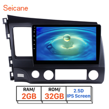 "Seicane IPS 2.5D pantalla RAM 2GB ROM 32GB 10,1 ""Android 8,1 Car Radio GPS reproductor Multimedia para Honda Civic 2006, 2007, 2008-2011"