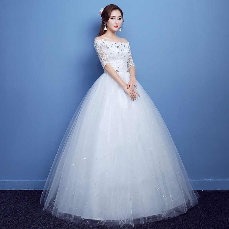 YC-H79 # שרף תרגיל Off כבוי כתף תחרה עד בתוספת גודל בהריון שמלות שרף תרגיל ארוך חתונת שמלת 2019 סיטונאי זול סין