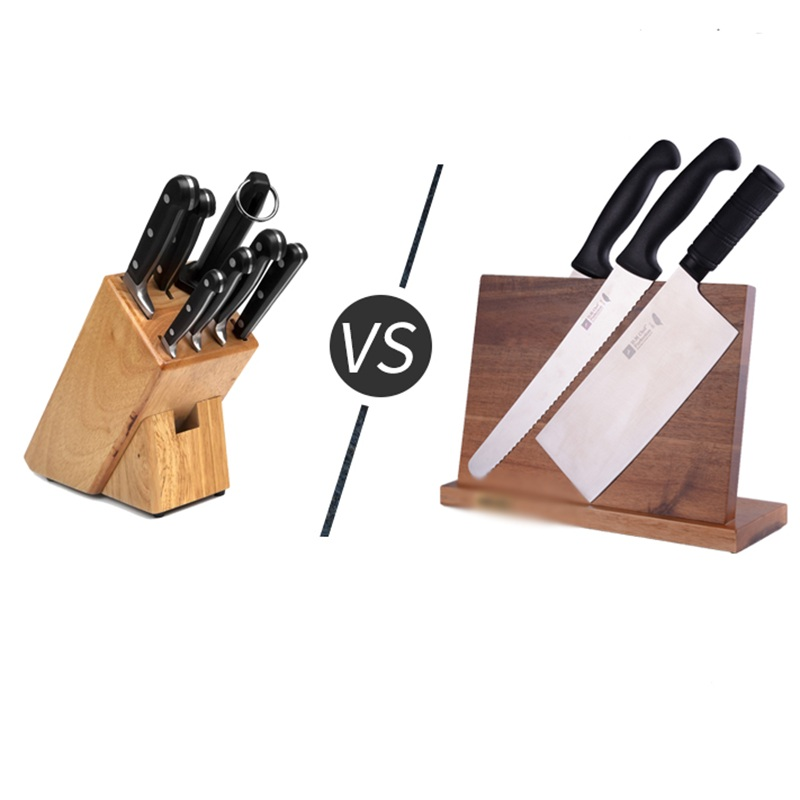 Solid Wood Magnetic Knife Holder Ventilation Drying Knife Storage Block Knife Stand Magnet Kitchen Utensil Cooking Tools 13