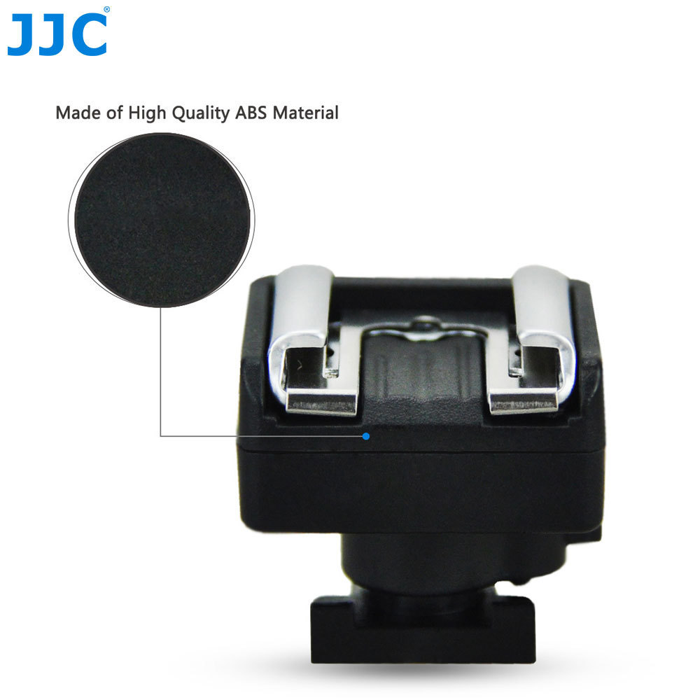 JJC Camcorder Stand LED Light Microphone Flash Mount Mini Advanced Hot Shoe Adapter To Standard/Universal Shoes For Sony DV