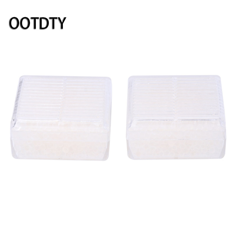 OOTDTY Camera Cleaning 2Pcs White Silica Gel Desiccant Moisture Indicating Reusable Absorb Dry Box For Camera