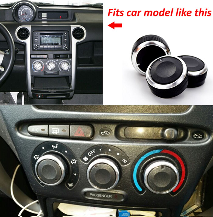 3PCS FOR Toyota funcargo / probox SWITCH KNOB KNOBS HEATER HEAT CLIMATE CONTROL BUTTONS DIALS FRAME A/C AIR CON COVER(China)