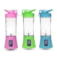 Tamaño compacto USB recargable exprimidor botella hogar viaje uso manual fruta exprimidor máquina licuadora botella|Exprimidores|   -