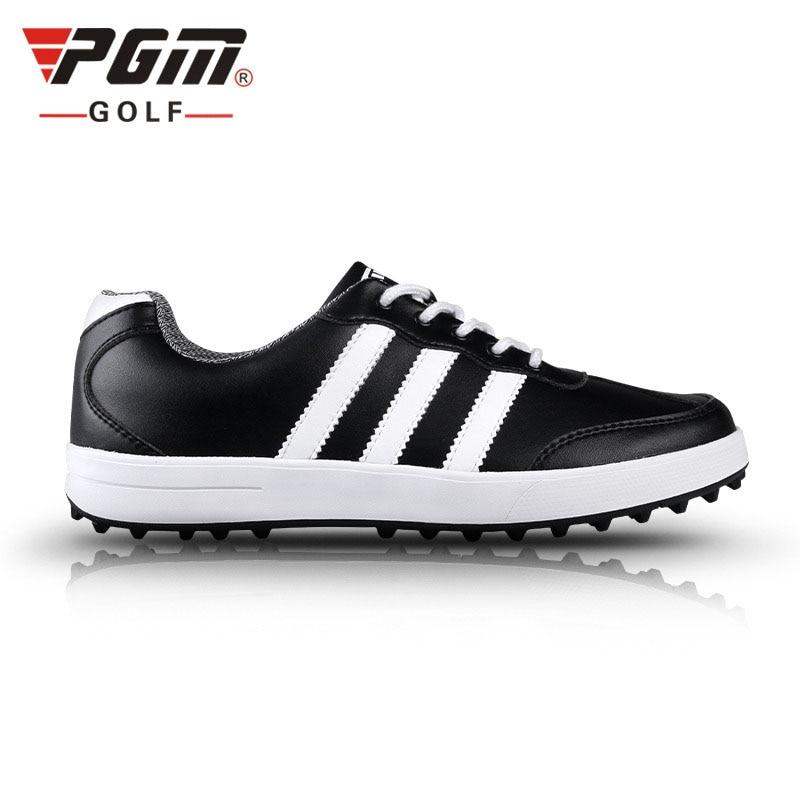 pgm golf shoes men women golfschuhe waterproof leather zapatos de golf para hombre chaussure spiker golfschoenen
