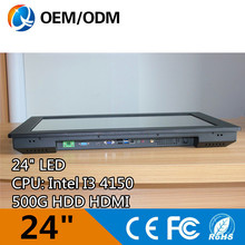 24 inch tablet pc industrial panel pc with intel i3 4150 and IR touch Resolution 1920×1080 2GB RAM 500G HDD