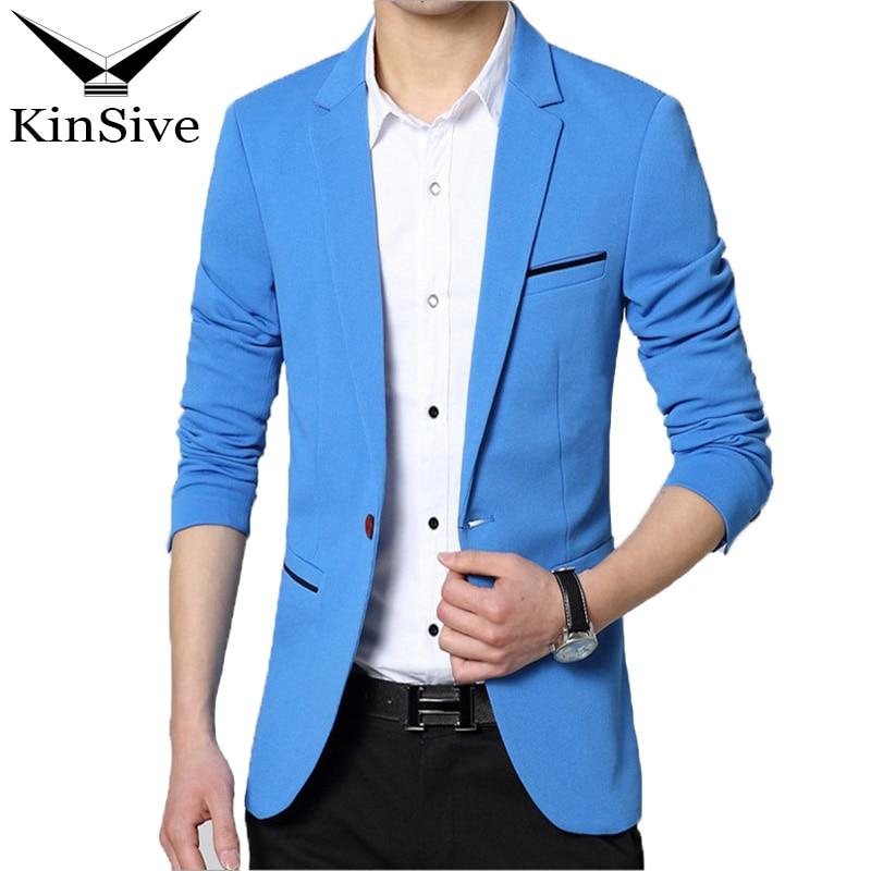 Fashion Men Blazer Casual Suit Slim Fit Suit Jacket Men Business Spring Autumn Costume Homme Terno Masculin Casual Blazer Jacket