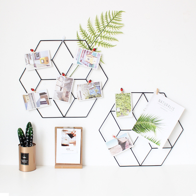 Iron Art Mesh Storage Holders Nordic Simple Style Multifunction Wall Decoration Photo DIY Plant Creative Ornament Organizer in Storage Holders Racks from Home Garden