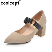 9551bb1714 Coolcept Tamanho 33-45 Vintage Mulheres com Tira No Tornozelo Sapatos de Salto  Alto Mulheres