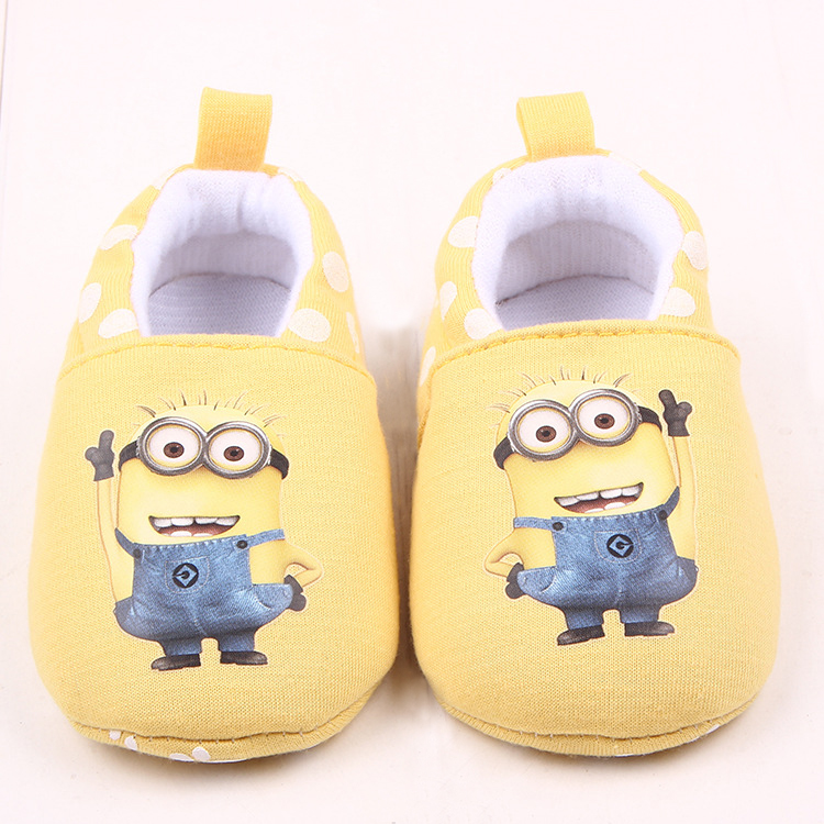 Baby Girls Pink Shoes for Boys walkers Winter Warm Crib Shoes Infant Toddler Newborn Cartoon Minions Home Wear Kids Slippers