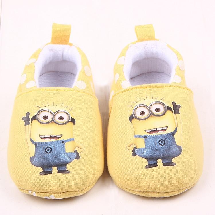 Neonate Rosa Scarpe per ragazzi camminatori Inverno Calde Scarpe culla Infant Toddler Neonato Cartoon Minions Home Wear Pantofole per bambini