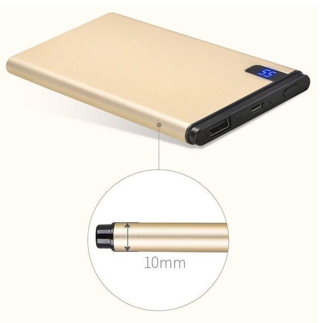 Slim 10000 mAh Power Bank,Portable Ultra-thin Polymer Powerbank battery power-bank 10000mah With LED Light for Mobile Phone 3