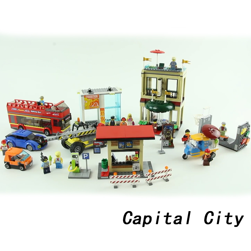 Lepin 02114 Capital Figures Building Blocks Bricks Bus Motorcycle Cars 60200 legoings DIY Toys For Children Gifts