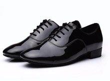 HXYOO 2017 Nouveau Modèle Noir Hommes Chaussures De Danse Latine Salle De Bal Chaussures Salsa Tango GM111