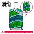 Plaid Imprimir Elastic Estiramento Bagagem Capa Protetora Aplicar para 18-30 Polegada Trolley Caso Mala Proteger Tampa Acessórios de Viagem