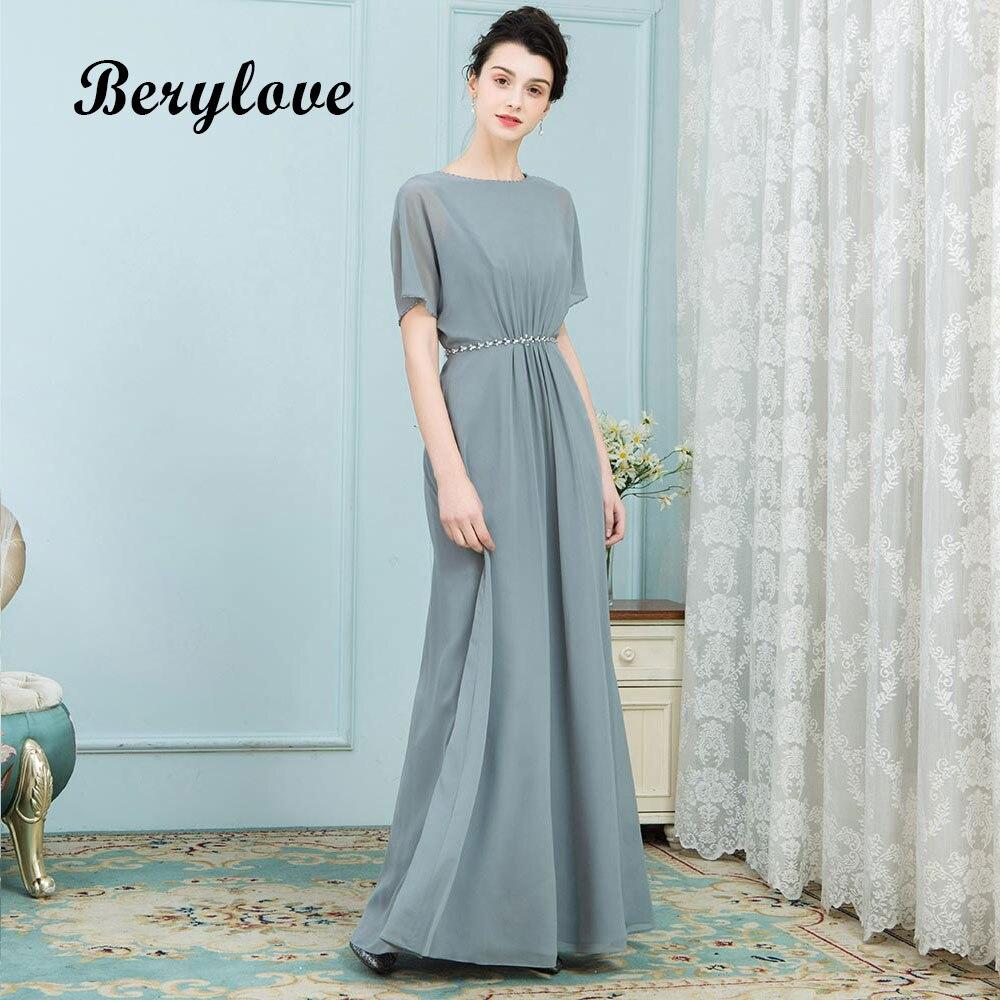 21e27a2c0 € 103.94 |BeryLove único de la madre de la novia con mangas larga de la  gasa 2018 vestidos de boda de partido de las mujeres para la madre vestido  ...