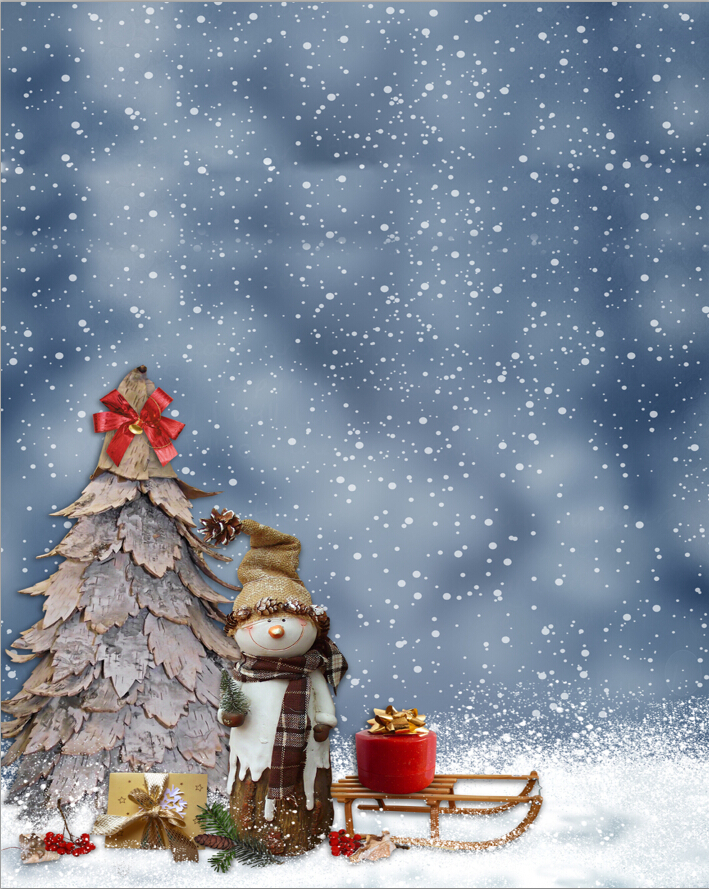 Vinyl Photography Backdrops Computer Printed Christmas Tree Gift Snowman Children background for photo studio  D-3153 vinyl photography background grey white streak computer printed children backdrops for photo studio zh 85