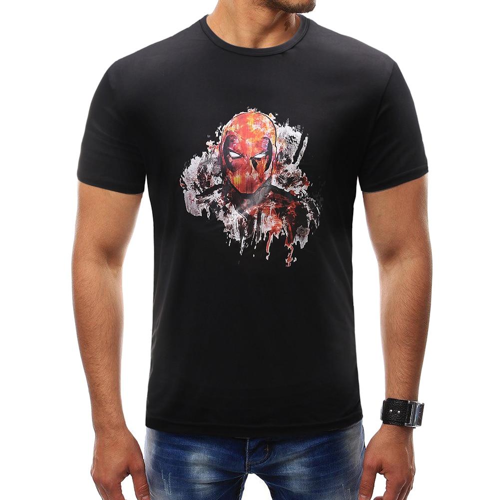Male 2018 Brand Short Sleeve Print T Shirt O-Neck Slim Men T-Shirt Tops Fashion Mens Tee Shirt T Shirts Plus Size 4XL VD