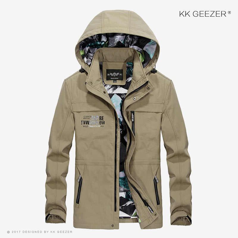 Erkek Ceket Kaban Rüzgarlık Bombacı Hood İnce Ceket Gevşek Güz 2019 Streetwear Askeri Su Geçirmez Rahat Moda Varsity Marka Koyu Mavi Haki Ordu Yeşil Büyük Boy Yüksek Kalite Rüzgar Kesici Dropshipping