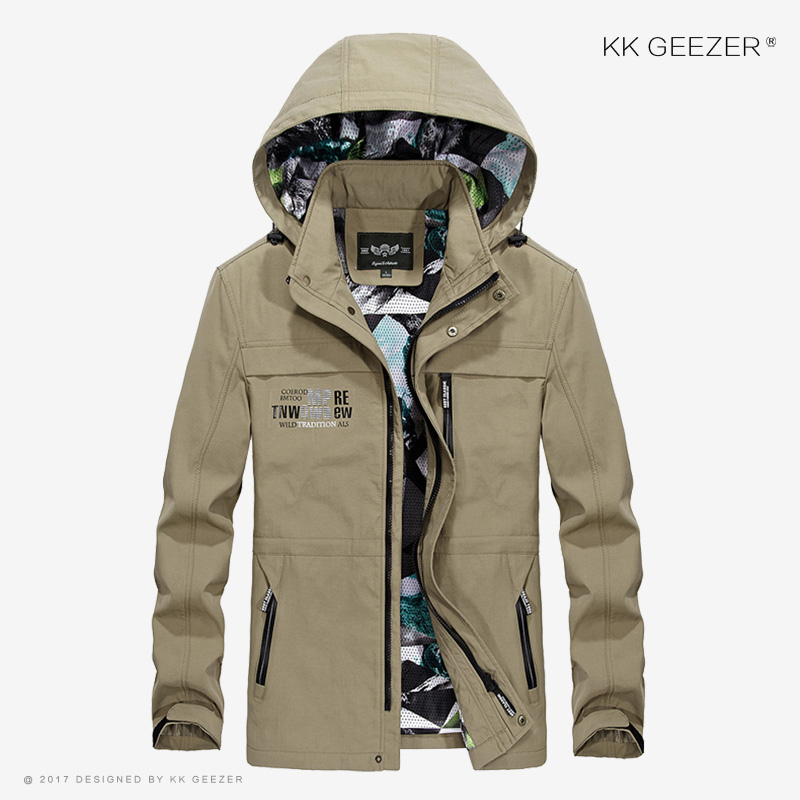 Mens Jackets and Coats Casual Jacket Spring New 2017 Fashion Autumn Hooded Military Camouflage Jackets Waterproof Famous Brand
