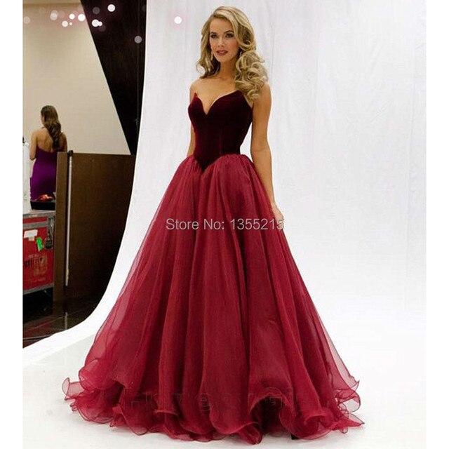 belle bourgogne robes de bal sexy longue robe de bal 2016 backless tulle volants custom made. Black Bedroom Furniture Sets. Home Design Ideas