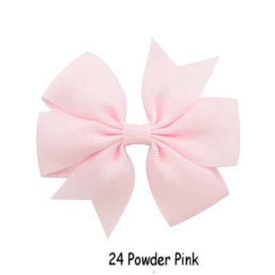 1 pièces Prower rose mode pince à cheveux pour les femmes élégant Six-eared couleur Pure ruban queue de poisson arc épingle à cheveux accessoires de coiffure 3