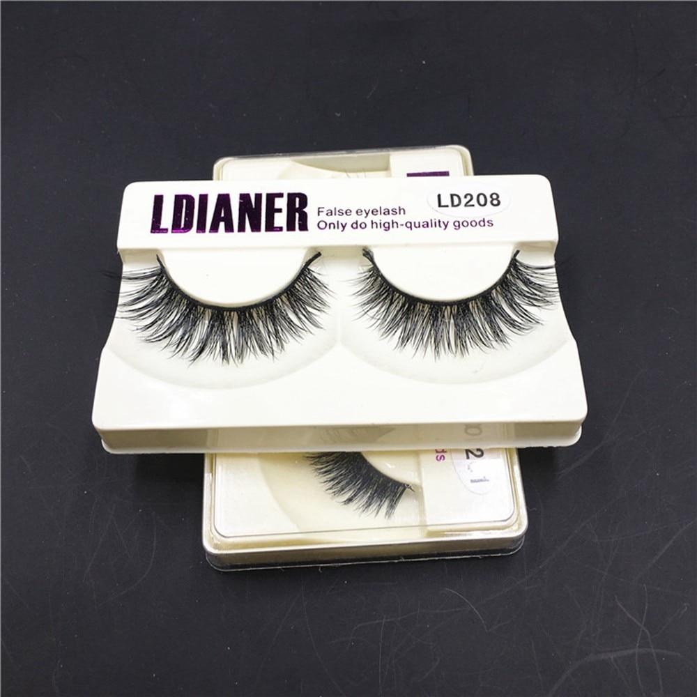 1Pair New Real Magnetic Eyelashes Mink Natural Long Black False Eyelashes Fake Extension Eye