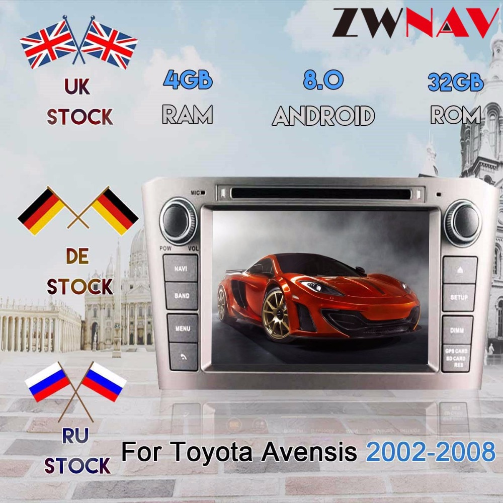 <font><b>Android</b></font> 7.1 8.0 Car DVD For <font><b>Toyota</b></font> Avensis <font><b>T25</b></font> 2003 2004 2005 2006 2007 2008 Auto Stereo Radio GPS Navigation Audio Video System image