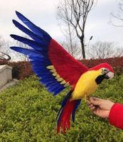 Büyük 42x60 cm wings yayılma papağan kuş köpük & renkli tüyler papağan el sanatları, cosplay, bahçe dekorasyon oyuncak hediye