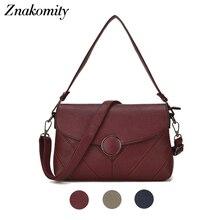 цена на Znakomity New Elegant Shoulder Bag Women Casual Women Fashion Solid Color Crossbody Messenger Bag Round Hasp Female Leather Bags