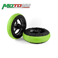 Free shipping Tire Warmer Motorcycle Race Tyre Warmer wheel 120/200 120/190 Front and Rear Motorbike Racing parts Green