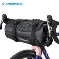 ROSWHEEL Waterproof Bike Handlebar Bag Bicycle Front Tube Pocket Bikepacking Bag 3 7L Nylon Hiking Cycling Pannier Bicycle Bags