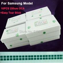 Original 250um OCA Clear Optical Adhesive for Samsung S7 edge S7 S6 S5 S4 J7 Note 2 3 4 5 LCD Touch Glass Lens Film OCA Glue