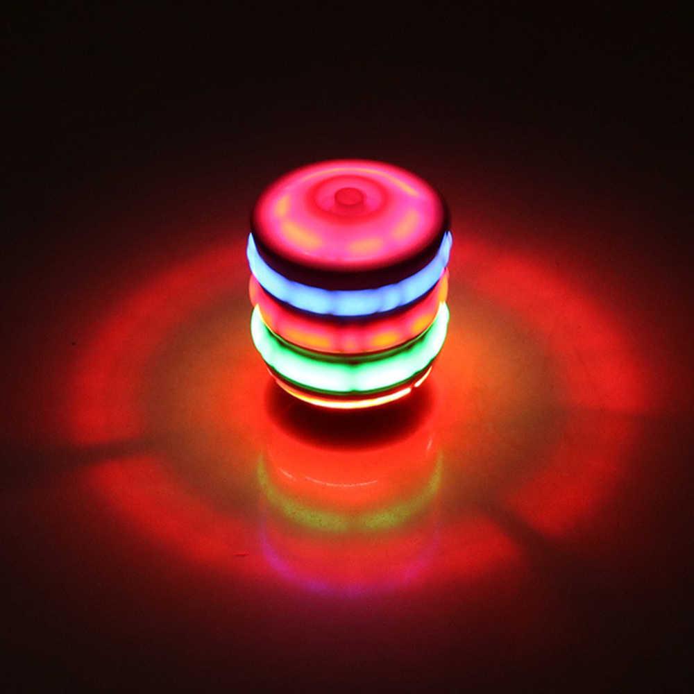 Girando brinquedos superiores arena crianças elétrico luminescente imitação de madeira giroscópio brinquedo das crianças colorido música flash clássico giroscópio j11