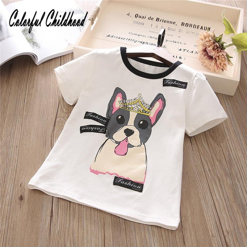 d27c56a3e Baby Girls Tshirt Girl Summer Short-Sleeved Casual T-shirts For Kids  Children's Cotton