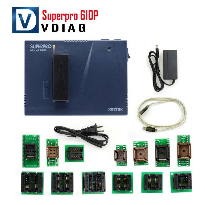 Цена за 2016 Новое Прибытие в Исходном Xeltek USB Superpro 610 P Xeltek 610 P Xeltek Superpro Программист с 13 шт. Адаптеры Fast доставка